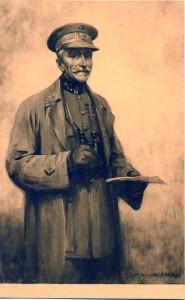 Carte postale : portrait du Général Bernheim par Jacques Madyol (1871-1950). © coll. Goldmann-Roth, publiée dans P. PIERRET, G. SILVAIN, op. cit., p. 79