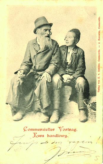Leçon de commerce. Carte émise à Czernowiz (Ukraine) en 1899. édition Schiller © coll. Hertog-Jacob *