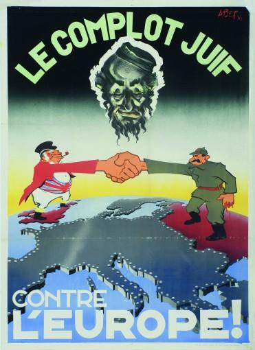 Le complot juif contre l'Europe !, affiche par Abery (1940-1945) © Droits réservés - CEGESOMA, Bruxelles, 275444