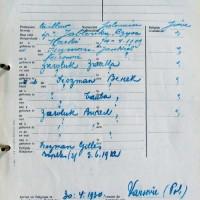 Inscription au registre des Juifs – Famille Fiszman, Bruxelles 11 déc. 1940 © Archive privée