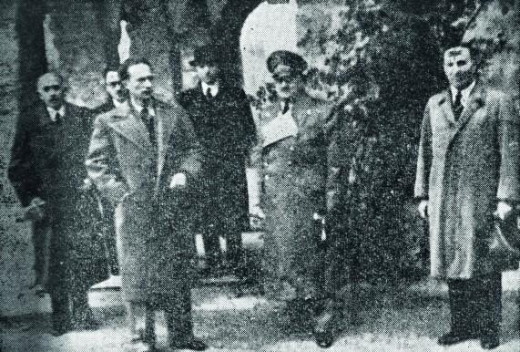 Novembre 1940 : après la capitulation, Léopold III rencontre Hitler dans sa résidence à Berchtesgaden – © Droits réservés – CEGESOMA, Bruxelles, 164012