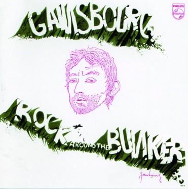 Maquette et autoportrait par Serge Gainsbourg, production Philips, 1975 - plus d'informations : http://www.serge gainsbourg. fr/1975-rock-around-the-bunker/