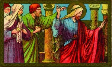 Carte postale : Les Juifs lapident Jésus. Édition Vereniging der Katholieke perswerken © coll. Gérard Silvain, publiée dans P. PIERRET, G. SILVAIN, op. cit., p. 176