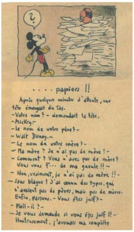 Mickey au camp de Gurs, carnet réalisé par Horst Rosenthal au cours de son internement au camp de Gurs, France (1942) © Mémorial de la Shoah/CDJC, Paris